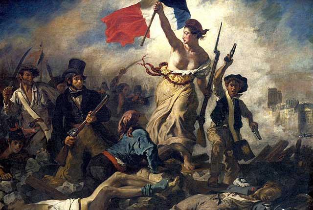 ドラクロワ絵画フランス革命